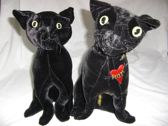 Stuffed Animal Cat Steam Punk Gothic Victorian Me Ow - Faux Feline - bad to the bone