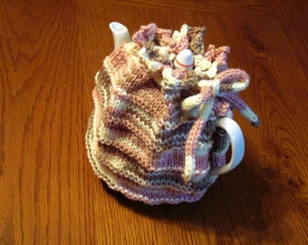 Hand Knit Traditional Tea Cozy Handknit Teapot Cosy 4 Cup Teapot 6 Cup Teapot Hot Tea Teapot Cover Cozies for Teapots