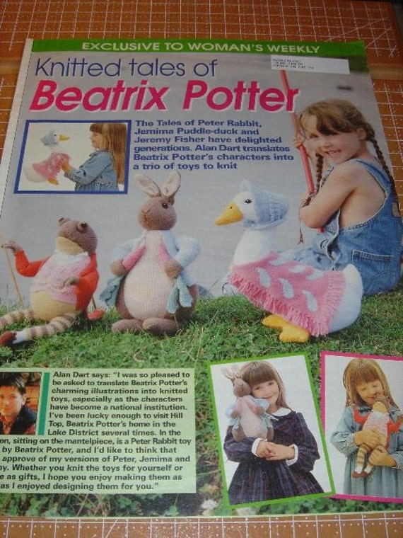Peter Rabbit Knitting Patterns Free : Knitted tales of beatrix potter patterns for peter rabbit