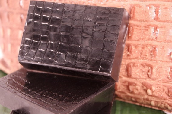 Black Leather Soap - Handmade Glycerin Soap