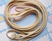 NaTuRaL WOVEN COTTON Cord 7 Yards, .25 inch thick