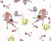 Baby Fawns, Cotton Interlock Knit Fabric, by the yard