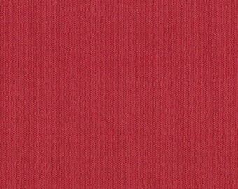 CHRISTMAS RED Cotton Interlock Knit Fabric, by the yard