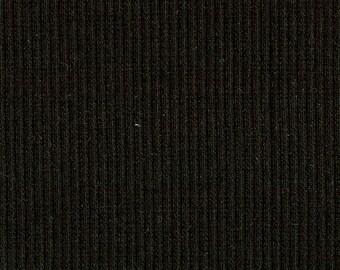 BLACK 2x1 RIBBING, Cotton Lycra blend, Fat Eighth, 9 x 21 inches