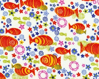 KOI, Cotton Interlock Knit Fabric, by the yard
