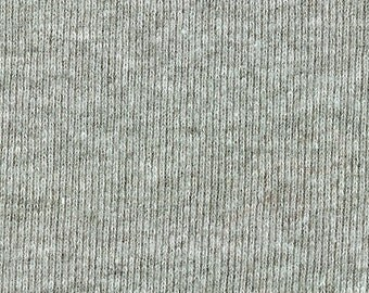 HEATHER GRAY 1x1 RIBBING, Cotton, Fat Eighth, 9 x 18.5 inches