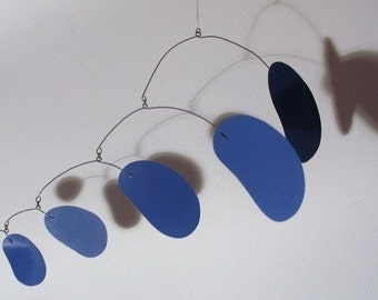 bubblicious in blue - hanging art mobile