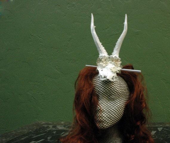 The Bride Wore What deer antler hat/ headpeice