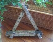 RESERVE FOR PELE Vintage Folding Ruler Picture Easel