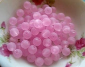 Frosted lucite Beads Series 30pcs - Pink