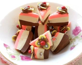4pcs Cake Fun Charms - Tiramisu Strawberry Mousse Cake