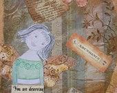 Healing Angels Collage on Canvas ... Abundance