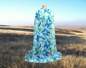 Cloak Cape Wedding Renaissance Butterfly Chiffon Halloween Costume- Reign - Burning Man - Cosplay