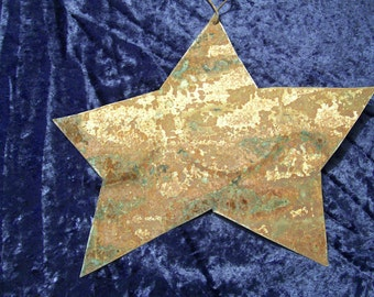 Star Antique Tin Metal Upcycled Recycled Rustic Christmas