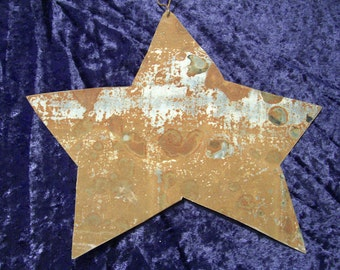 Star Antique Tin Metal Upcycled Recycled Rustic Wedding Decor