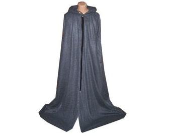Grey Cloak - Hooded Fleece - Halloween Costume - Superhero - Medieval - Wedding -Burning Man - Reign - Harry Potter