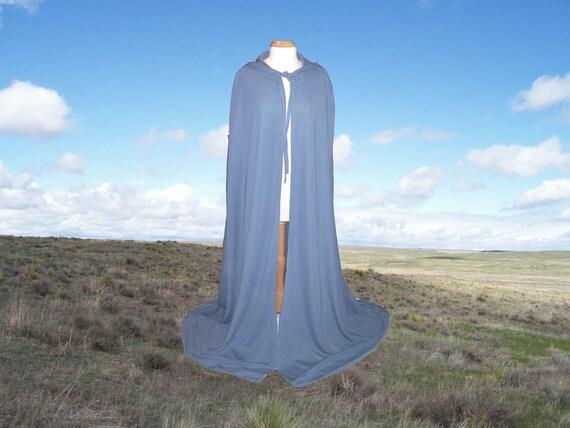 Cloak - Blue Hooded Cape -  Renaissance  Medieval Gothic  Costume Harry Potter Halloween