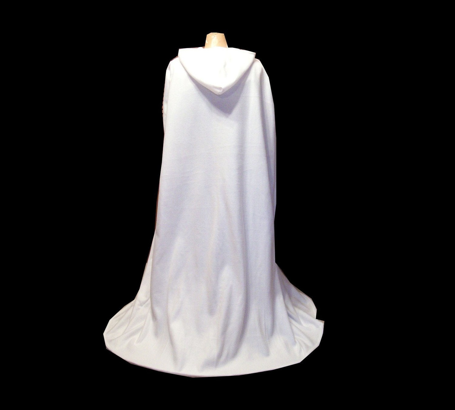 Cloak white fleece hooded cape wedding by colortheworldart