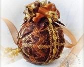 Elegant chocolate christmas ornament