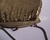 Gold 1950s Whiting and Davis Metal Mesh Handbag