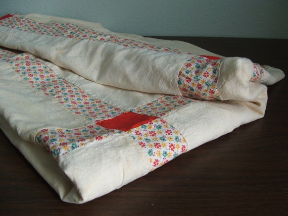 Muslin and Calico Quilt Top