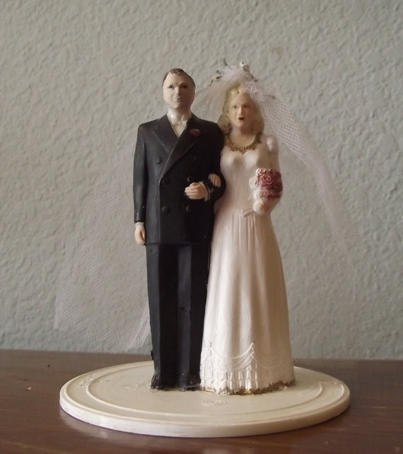 OLD Bride and Groom Cake Topper