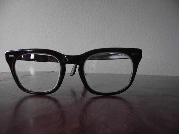 Vintage Geeky Eyeglasses - Army Issue Buddy Holly Style