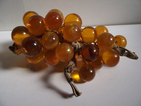 Vintage Golden Lucite Grape Cluster - Just like the one on Don and Megan's Dining Room Table
