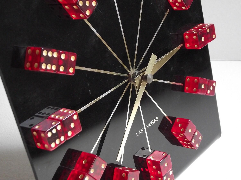 Vintage Dice Las Vegas Clock Take A Gamble