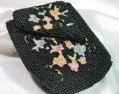 Vintage Beaded Coin Purse Belguim
