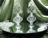 Vintage Art Deco Crystal Vanity Set