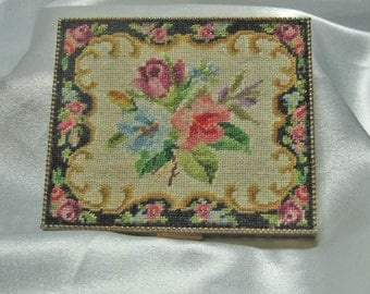 Vintage Petit Point Compact Germany made by Schildkraut