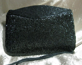Vintage Glass Beaded Evening Purse