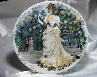 VINTAGE Porcelain Limoges Haute Vienne Plate 1976 by Fr. Ganeau CS080