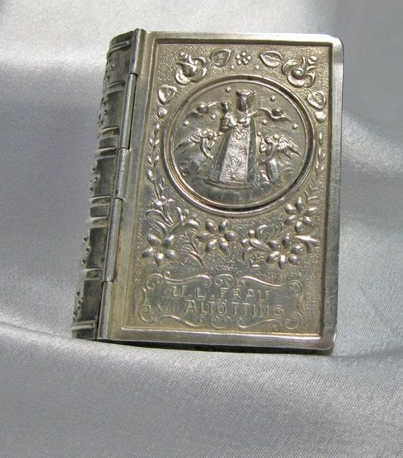 Antique Rosary Box Silver Rare Find