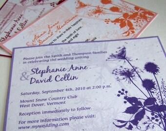 Summer wedding invitations, garden wedding, barn invitation, plantable invitation, rustic wedding invitation, country wedding, set of 25