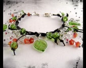 Faerly Flowery Bracelet Lily of the Valley and Olivine