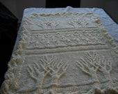tree of life afghan or baby blanket