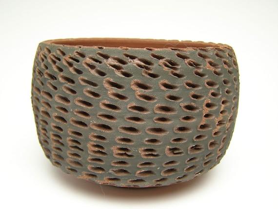 Ceramic planter  Pottery Planter pot succulents planter cactus planter red and black 6 x  4  J- 9 Free Shipping