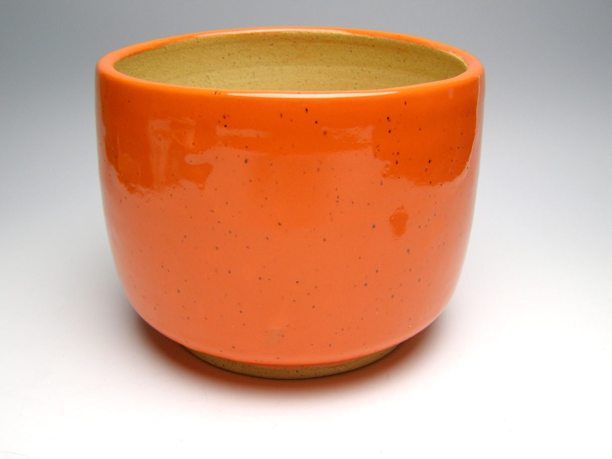 Plant Pot Planter Orange Stoneware Plant Pot 7 X 5 1 2 Scp62
