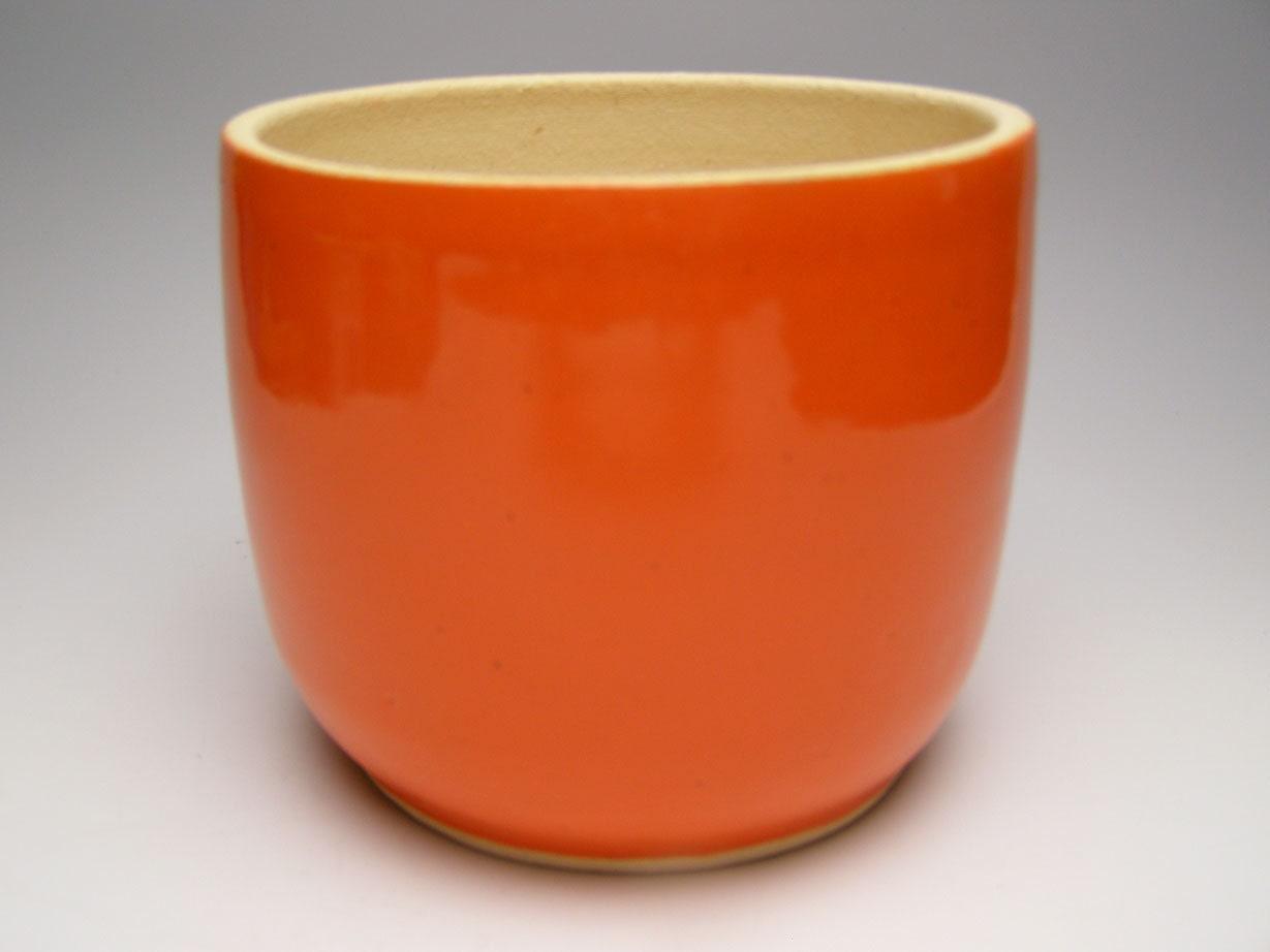 Plant pot planter orange stoneware plant pot 6 x 5 scp 77 for 6 ceramic flower pots