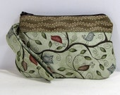 Wristlet Purse - Camera Bag - Travel Purse - Small Handbag - Zippered Clutch - Handbag - Brown