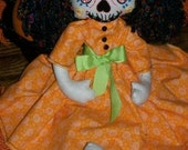 RESERVED for potterycrazedgal Bonita Day of the Dead Doll (Hand Embroidered)