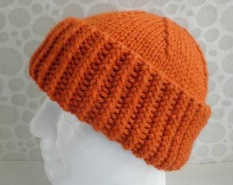 KNITTING PATTERN/BRADLEY Mans Chunky Slouchy Beanie Hat/Knit Straight/Mans Knit Slouch Pattern/ Slouch Hat/ Mans Slouch Beanie Toque/Chunky