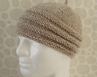 KNITTING PATTERN/BALMORAL Tweed Wool Knit Hat Intermediate Level/ KnitStraight/Mans Knit Beanie Pattern/ Aran Tweed Beanie/Mens HatKnitting
