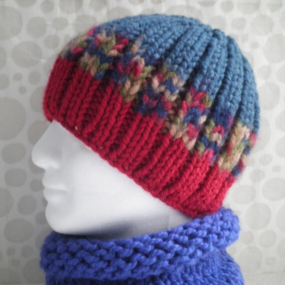 Chunky Knit Beanie Hat Pattern : KNITTING PATTERN/ BASIL/ Mans Chunky Beanie Pattern/Knit