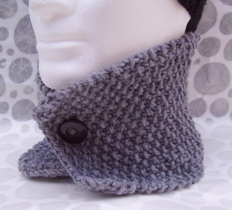 KNITTING PATTERN/DAN Mans Cowl Woolen Knit Scarf Neckwarmer