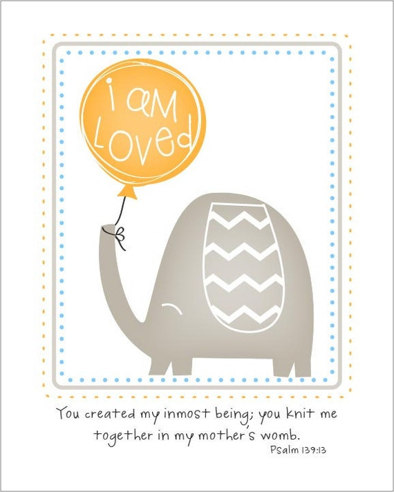 You knit me together in my mother's womb... 8 by 10 print.