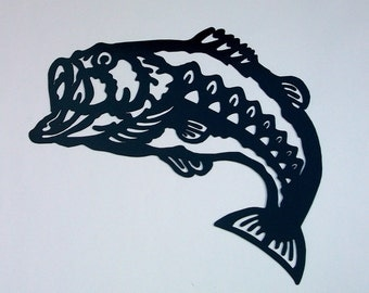Bass Silhouette Wall Hanging