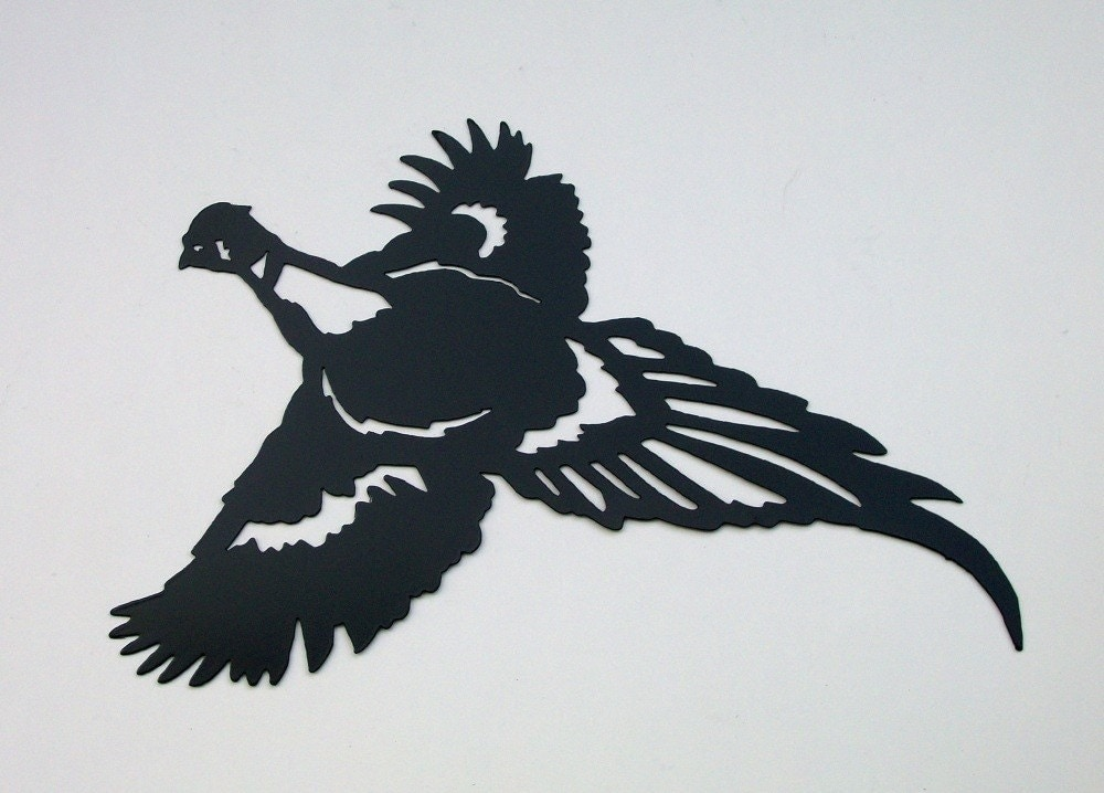 Pheasant Bird Hunting Silhouette Wall Hanging by ...